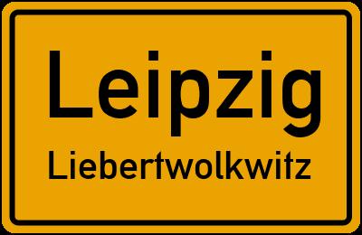 Ortsschild Leipzig Liebertwolkwitz