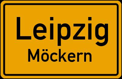 Ortsschild Leipzig Möckern