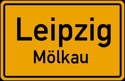 Ortsschild Leipzig Mölkau