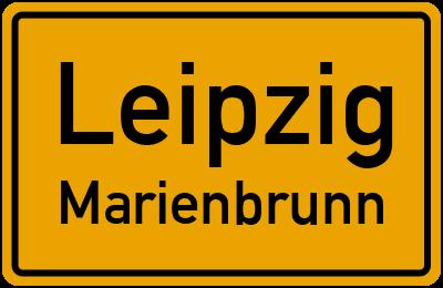 Ortsschild Leipzig Marienbrunn