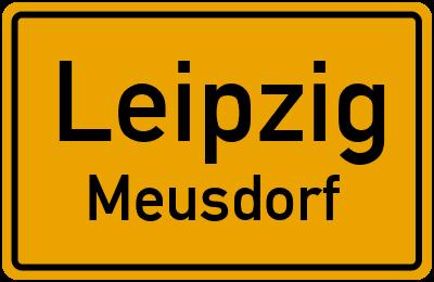 Ortsschild Leipzig Meusdorf