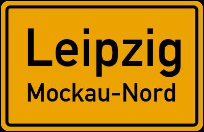 Ortsschild Leipzig Mockau-Nord