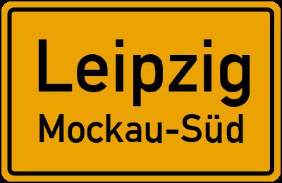 Ortsschild Leipzig Mockau-Süd