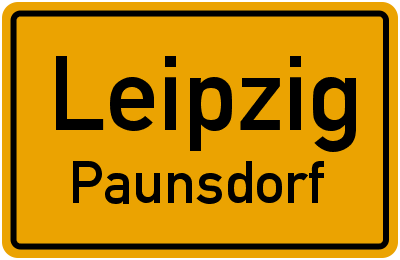 Ortsschild Leipzig Paunsdorf