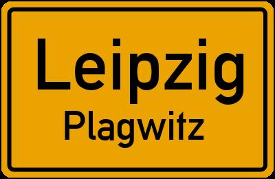 Ortsschild Leipzig Plagwitz