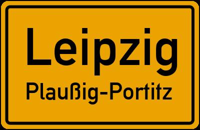 Ortsschild Leipzig Plaußig-Portitz