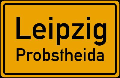 Ortsschild Leipzig Probstheida