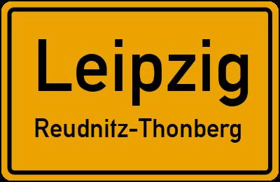 Straßenverzeichnis Leipzig Reudnitz-Thonberg