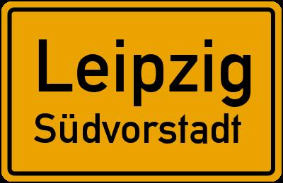 Ortsschild Leipzig Südvorstadt