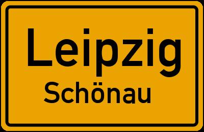 Ortsschild Leipzig Schönau
