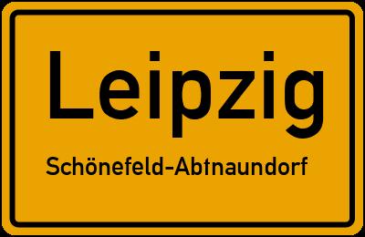 Ortsschild Leipzig Schönefeld-Abtnaundorf