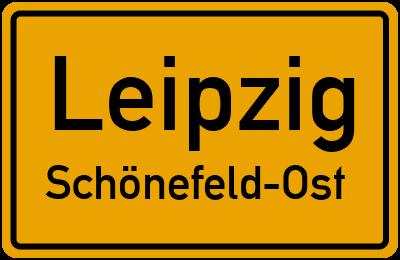 Ortsschild Leipzig Schönefeld-Ost