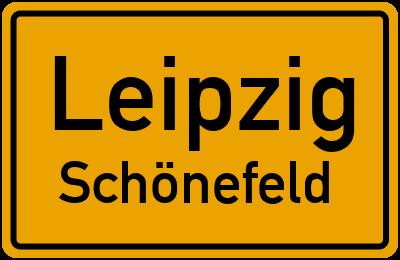 Ortsschild Leipzig Schönefeld