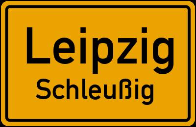 Straßenverzeichnis Leipzig Schleußig