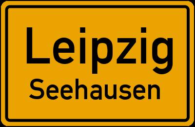 Ortsschild Leipzig Seehausen