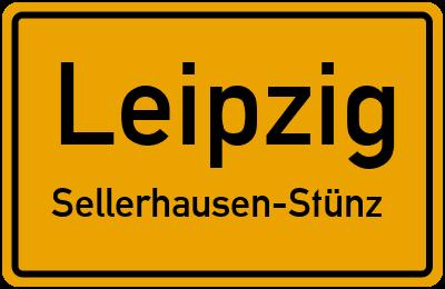 Ortsschild Leipzig Sellerhausen-Stünz