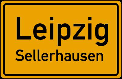 Ortsschild Leipzig Sellerhausen