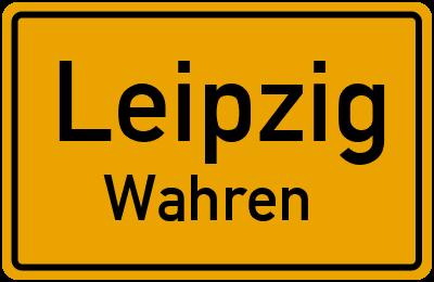 Ortsschild Leipzig Wahren