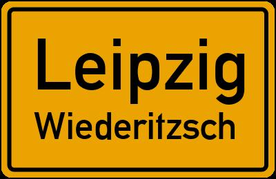Ortsschild Leipzig Wiederitzsch