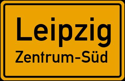 Ortsschild Leipzig Zentrum-Süd