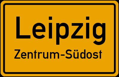 Ortsschild Leipzig Zentrum-Südost