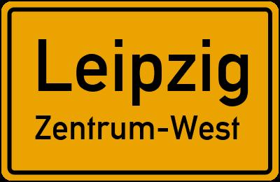 Ortsschild Leipzig Zentrum-West