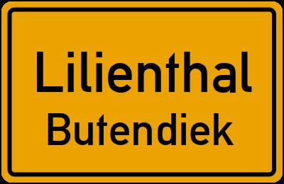 Ortsschild Lilienthal Butendiek