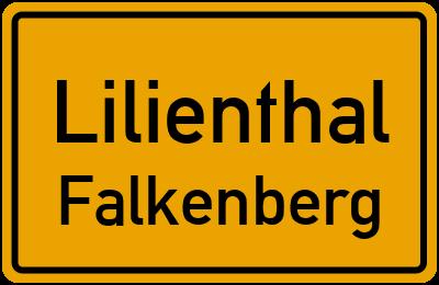 Ortsschild Lilienthal Falkenberg