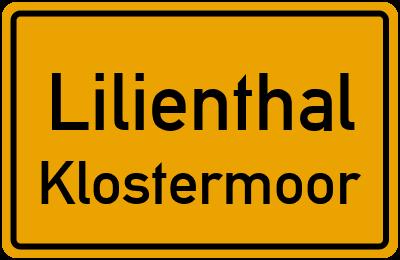 Ortsschild Lilienthal Klostermoor