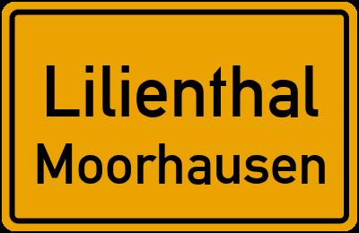 Ortsschild Lilienthal Moorhausen