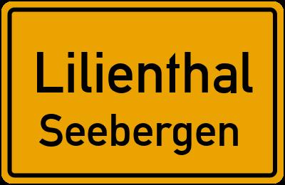 Ortsschild Lilienthal Seebergen