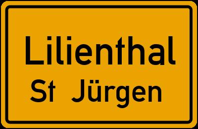 Ortsschild Lilienthal St. Jürgen