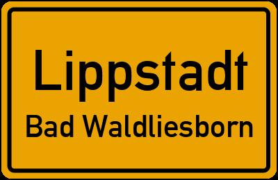 Ortsschild Lippstadt Bad Waldliesborn