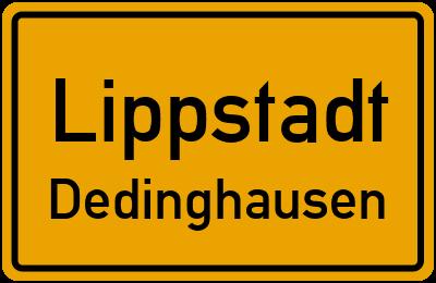 Ortsschild Lippstadt Dedinghausen