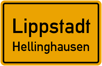 Ortsschild Lippstadt Hellinghausen