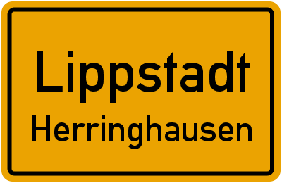 Ortsschild Lippstadt Herringhausen