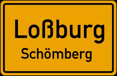 Ortsschild Loßburg Schömberg