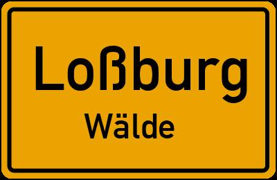Ortsschild Loßburg Wälde