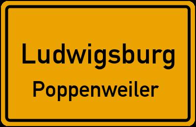 Ortsschild Ludwigsburg Poppenweiler