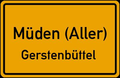 Ortsschild Müden (Aller) Gerstenbüttel