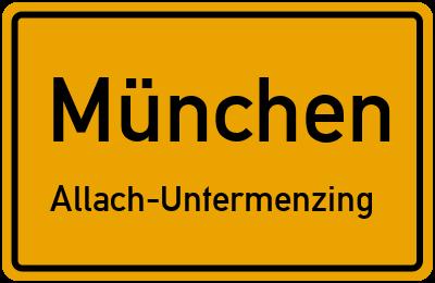 Straßenverzeichnis München Allach-Untermenzing
