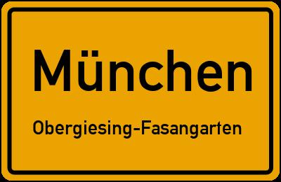 Straßenverzeichnis München Obergiesing-Fasangarten