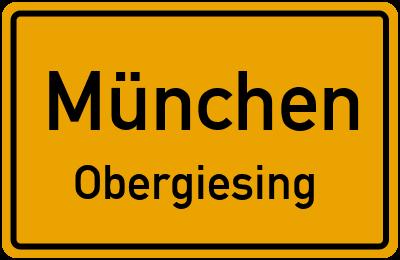 Ortsschild München Obergiesing
