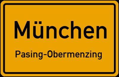 Straßenverzeichnis München Pasing-Obermenzing