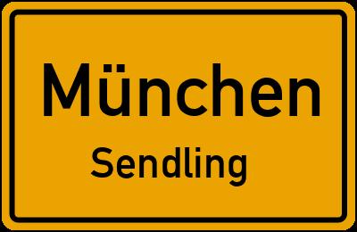 Ortsschild München Sendling