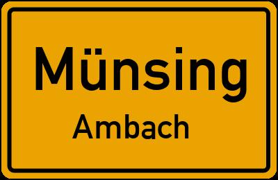 Ortsschild Münsing Ambach