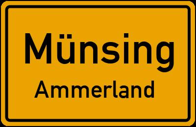 Ortsschild Münsing Ammerland