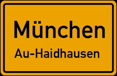 Straßenverzeichnis München Au-Haidhausen