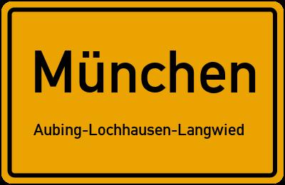 Ortsschild München Aubing-Lochhausen-Langwied