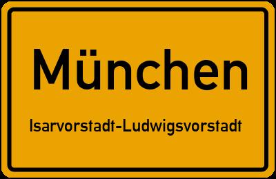 Straßenverzeichnis München Isarvorstadt-Ludwigsvorstadt